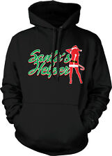 Santa's Helper Christmas Party Joke Funny Festive Flirty Humor Hoodie Pullover
