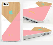 case,cover fits iPhone models Pastel pink pic of wood,geometric,abstract,retro