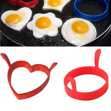 Creative Round Heart Kitchen Silicone Egg Frier Fried Oven Poach Mould