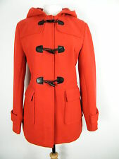 Red Wool Mix Duffle Coat With Hood, Brand New, 10 12 14 16 18 20 22 24 Beautiful
