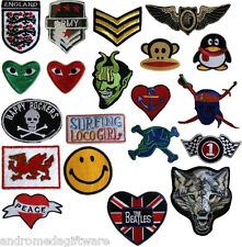 Hot Fix Iron on Patches, 20 designs !Free UK P&P!