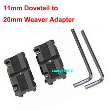 "3/8"" 11mm Dovetail to 7/8"" 20mm Weaver Mount RIS RAIL Night Vision Scope Adaptor"