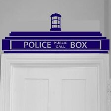 Doctor Who Blue Tardis Decal Sticker ( Wall, Doors, Bedrooms ) K9, 32 x 86cms