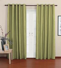"SALE lime green thick cotton eyelet ring top lined curtains 54"" 72"" 90"" drop"