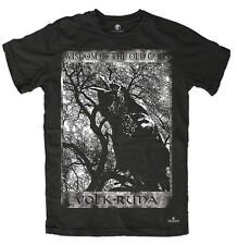 T-shirt WISDOM OF THE OLDS Asatru Wolf Pagan Thor Odin Witchcraft Runes Viking