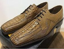 STACY ADAMS MEN'S DRESS SHOES,LEATHER,ASHER,MUSTARD,LIZARD,GATOR PRINT,NEW & BOX