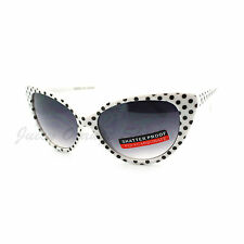 Polka Dot Cateye Sunglasses Women's Vintage Retro 60's
