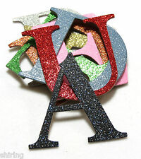 "4"" Custom Glitter Chipboard Alphabet Letters numbers 30 Colors sticker available"