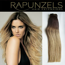 "20"" Dip dye ombre hair extensions weave/weft, human remy half head, full head"