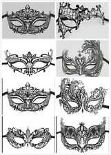 VENETIAN BLACK FILIGREE METAL MASQUERADE MASK BALL PROM FANCY DRESS HALLOWEEN UK