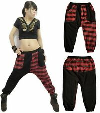 New Sweatpants Harem Plaid Patchwork Sports Trousers Harem Hip Hop Dance Pants