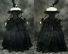 H - 331 Black Victorian Gothic Cosplay Dress Costume Costume After Ma