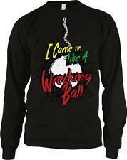 I Came In Like A Wrecking Ball Miley Funny Cyrus Parody Long Sleeve Thermal