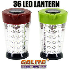New Solar Rechargable 36 LED Lantern Torch Flashlight Camping Fishing Lamp Light