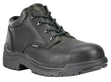 Mens Timberland Pro Titan Oxford Shoes Safety Toe Leather Wide Black 40044