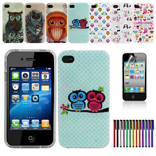 Owl Dog Cake Silicone Rubber TPU Soft Skin Case Cover For iPhone 4G 4S        EB