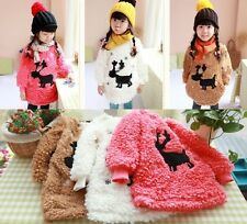 Brand New Kids Toddler Winter Clothes Girls Lovely Long Sleeve Tops Sz18M-6Y