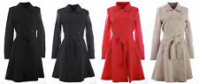 COLLECTION LONDON Womens Ladies Smart Business Mac Trench Coat Jacket Size 8- 18