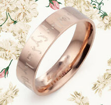 COUPLE SPECIAL Lord of the Rings Rose Gold Titanium Wedding Ring GM085A1