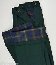 NEW Haband's ICE HOUSE Flannel Lined Pants Slacks Choose Size 32 - 50 Green BD