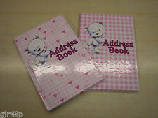 TELEPHONE A to Z INDEX Names Numbers HARDBACK Book 2 Cute Bear Designs FREE P&P