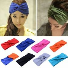 Chic Women Cotton Turban Twist Knot Head Wrap Headband Twisted Knotted Hair Band