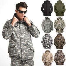 Cyber Monday  Mens Outdoor Winter Military Army Wind Windproof Jacket Parka Tops