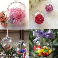 8/10cm Clear Plastic Ball DIY Christmas Tree Hanging Bauble Decoration Ornaments