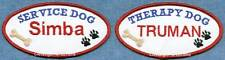 PERSONALIZED therapy dog or service dog vest patch