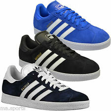 Adidas Gazelle 2 Blue Yellow Suede Mens Trainers