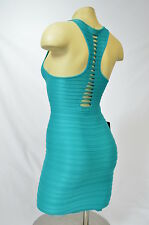 BEBE dress bodycon keyhole raceback blue urg 198978 p / s m / l