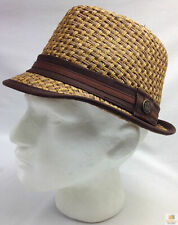 GOORIN BROTHERS Eric B Trilby Fedora Hat Bros Woven Paper Straw 100-4432 New