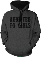 Addicted To Girls Player Swag Dope Lady's Man Pimpin 2-tone Hoodie Pullover