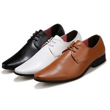 New Men's Leather Pointed Toe Driving Moccasin Lace Ups Dress Formal Shoes NN120
