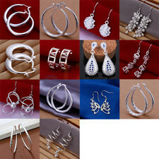 Wholesale Woman Jewelry Multi-styles 925 Sterling Silver Dangle Ear Stud Earring