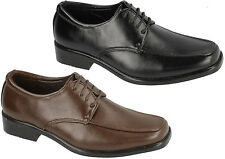 JCDEES BOYS SMART SHOES IDEAL FOR SCHOOL OR CASUAL WEAR IN BLACK & BROWN N1076