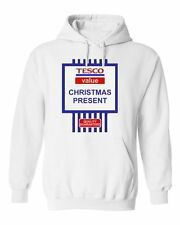 NEW WOMENS MENS KIDS BOYS GIRLS TESCO VALUE CHRISTMAS HOODIE JOKE GIFT HOODY