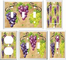 TUSCAN GRAPES KITCHEN DECOR LIGHT SWITCH COVER OR OUTLET V765