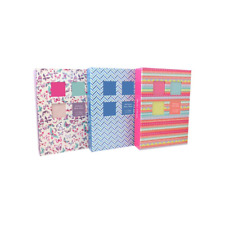 """Large 200 Pocket Slip In Photo Album Holds 7"""" X 5"""" Photos 7x5 Front Window hold"""