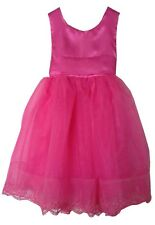 WOW!! GIRLS PRETTY PINK PARTY DRESS AGE 3-4 & 4-5 ONLY £9.99 PINK OR RED