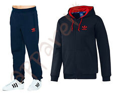 NEW Mens Adidas SPO Tracksuit Hoody Hooded Jog Jogging Fleece Navy Size S M L XL