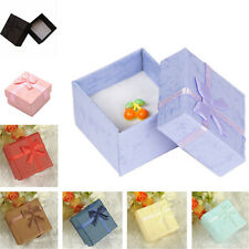 20/50PCS Wholesale Bowknot Display Ring Earring Wedding Gift Paper Square Box US