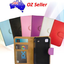 PREMIUM QUALITY LEATHER WALLET BOOK COVER CASE WITH CARD POUCHES GALAXY MODELS