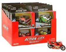 4 x Peterkin Action City Die Cast Toy Motorbikes Small 8 Cm Free Wheel