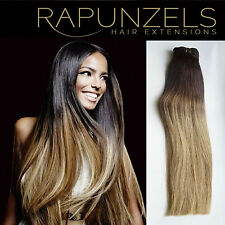 "20"" Clip in Ombre balayage dip dye hair extensions 1ft, 2ft, 3ft, 6ft or 9ft DIY"