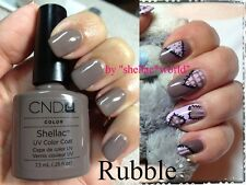 CND Creative Shellac UV Nail Polish Rubble brown to light grey / elephant color