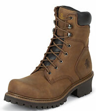 """Chippewa Mens 8"""" Insulated Boot Steel Toe Brown 55025 Extra Wide"""
