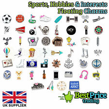 SPORTS HOBBIES INTERESTS CHARMS Living Memory Floating Charm Costume Jewellery