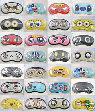 Cute Cartoon Sleeping Eye Mask Blindfold Shade Travel Soft Sleep aid Cover Light