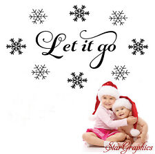 Let It Go Frozen Song Lyrics Disney Girl Bedroom Playroom Vinyl Decal Sticker